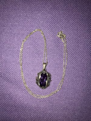 Pendant silver-colored-dark violet