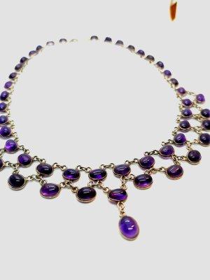 Amethyst Echtsilber Collier Halskette