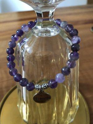 Bracelet en perles violet foncé-violet
