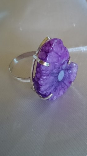 Anello d'argento multicolore