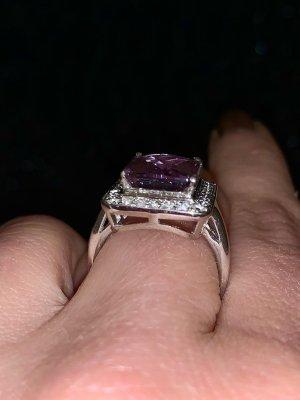 Anello d'argento argento-viola