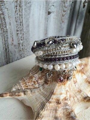 code Ibiza Bracelet white-lilac leather