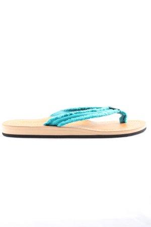 Ameu Sandalo toe-post turchese stile casual