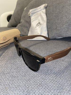 Owalne okulary przeciwsłoneczne czarny-brązowy