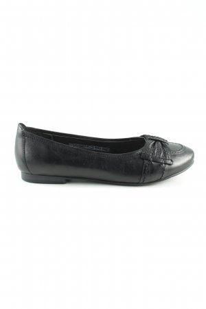 Peep Toe Ballerinas black casual look