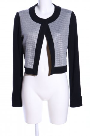 amiable Short Jacket black-light grey quilting pattern casual look