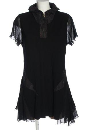 amiable Camicia a tunica nero stile casual