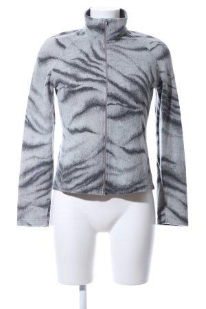 Amica Moda Giacca in pile grigio chiaro-nero Colore sfumato stile casual