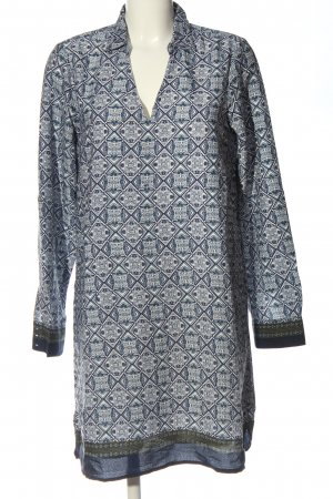 amichi Longsleeve Dress blue-white allover print casual look
