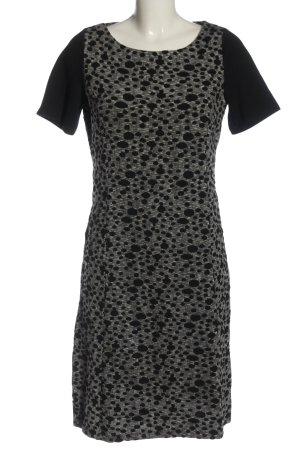 Amira Robe à manches courtes gris clair-noir motif abstrait style décontracté