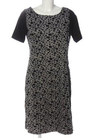 Amira Jurk met korte mouwen lichtgrijs-zwart volledige print casual uitstraling