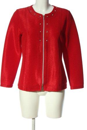 Amira Gebreide cardigan rood casual uitstraling
