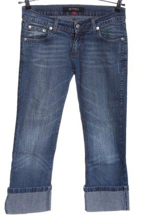 Amisu Jeans a 3/4 blu stile casual