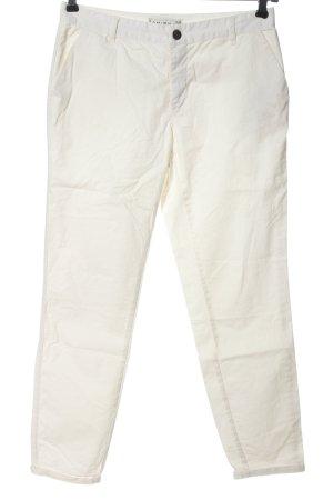 Amisu Jeans 3/4 crème style décontracté