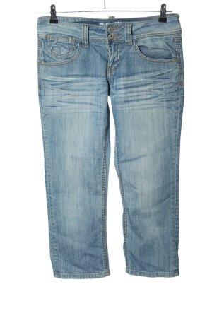 Amisu Jeans 3/4 bleu style décontracté