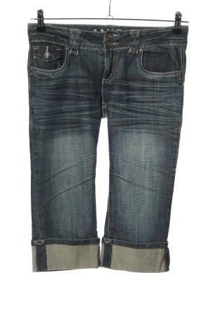 Amisu 3/4-jeans blauw casual uitstraling