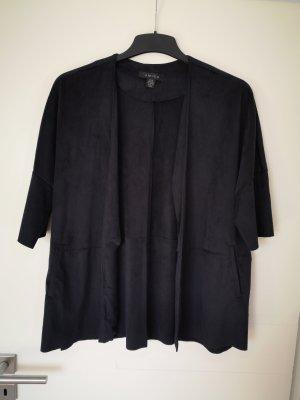 Amisu 36 Mantel Jacke Poncho Kimono schwarz