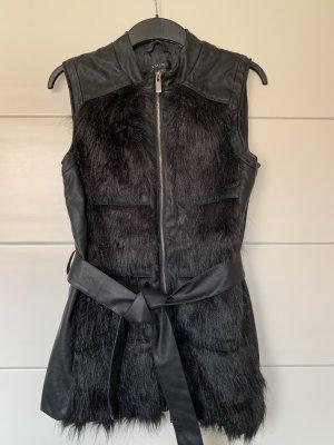Amisu Fake Fur Vest black
