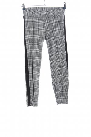 Amisu Spodnie 7/8 Wzór w kratkę W stylu biznesowym