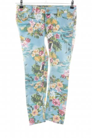 Amisu 7/8 Jeans Blumenmuster Casual-Look