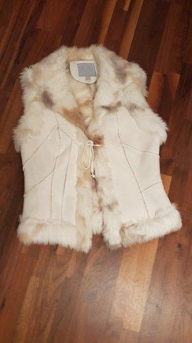 Amisu Fake Fur Vest natural white