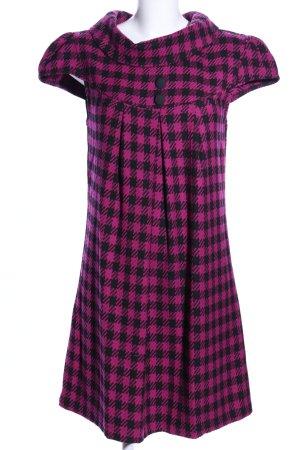 Amisu A-Linien Kleid pink-schwarz Allover-Druck Business-Look