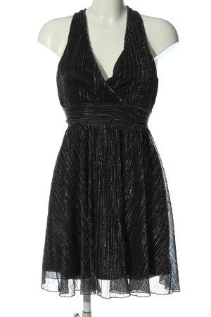 Amisu A-lijn jurk zwart-zilver elegant