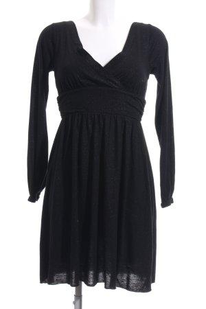 Amisu A-Linien Kleid schwarz Party-Look