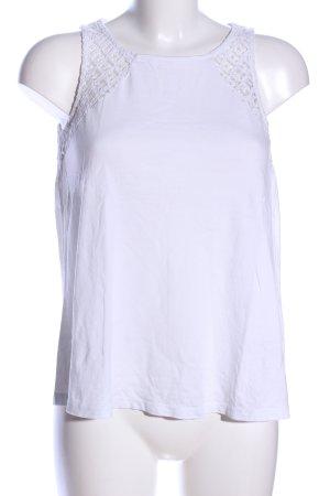 Amisu Top o kroju litery A biały W stylu casual