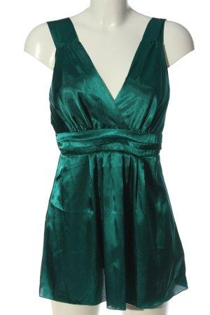 Amisu Top o kroju litery A zielony Elegancki