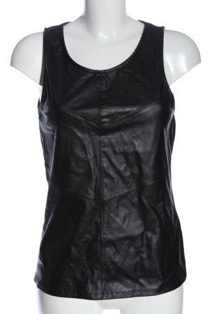 Amisu Basic topje zwart casual uitstraling