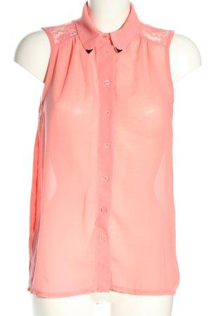 Amisu ärmellose Bluse pink Casual-Look
