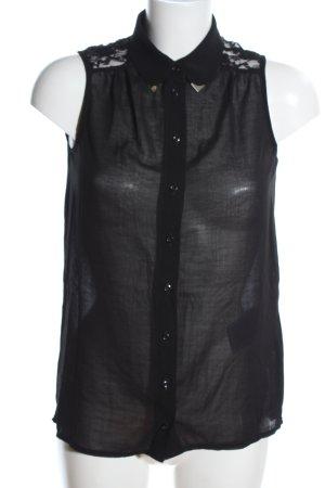 Amisu ärmellose Bluse schwarz klassischer Stil