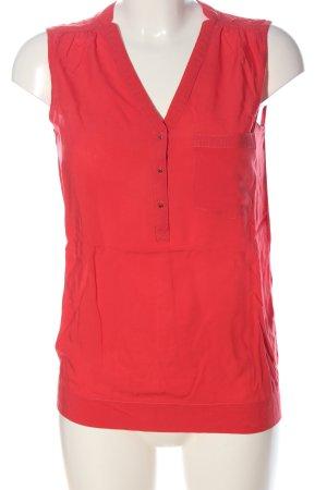 Amisu ärmellose Bluse rot Casual-Look