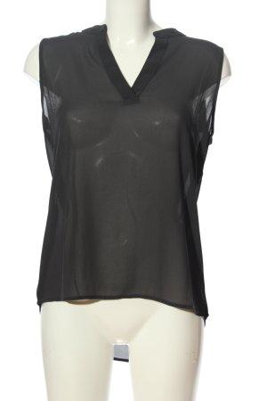 Amisu ärmellose Bluse schwarz Casual-Look