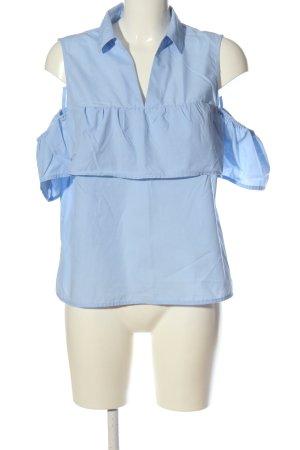 Amisu ärmellose Bluse blau Casual-Look