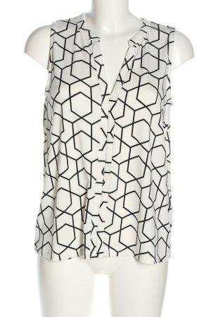 Amisu Sleeveless Blouse white-black allover print casual look