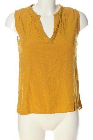 Amisu ärmellose Bluse blassgelb Casual-Look