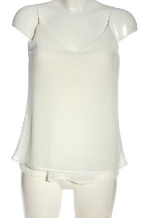 Amisu Blusa sin mangas blanco elegante