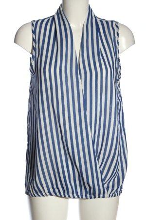 Amisu ärmellose Bluse blau-weiß Streifenmuster Casual-Look