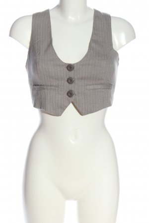 Amisu Waistcoat light grey allover print casual look
