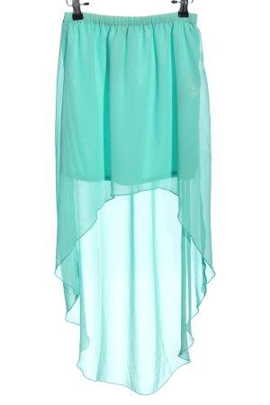 Amisu Asymmetry Skirt turquoise casual look