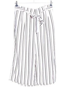 Amisu Baggy Pants weiß-schwarz Streifenmuster Casual-Look