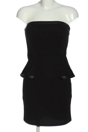 Amisu Bandeaukleid schwarz Elegant