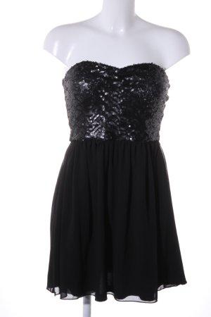 Amisu Bandeau Top black glittery