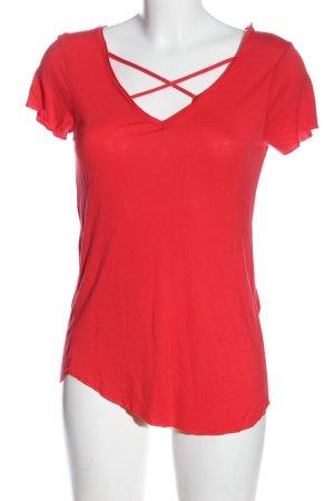 Amisu Basic-Shirt rot Casual-Look