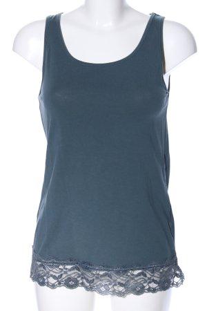 Amisu Basic Top blau meliert Casual-Look