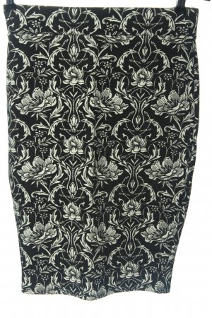 Amisu Falda de tubo negro-blanco estampado repetido sobre toda la superficie