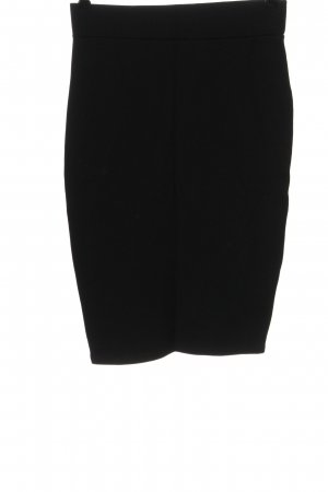 Amisu Falda de tubo negro look casual