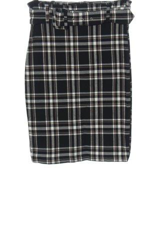 Amisu Pencil Skirt check pattern casual look